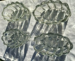 4 Princess House Crystal Buffet Spoon Fork Caddy Holders 438 - $15.90