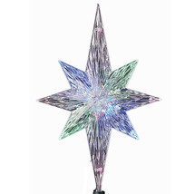 Kurt Adler Polar Star Tree Topper w/LED Color Changing Light Xmas Decoration - $22.88