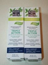 Kiss My Face Triple Action Toothpaste Gel Fluoride Free Cool Mint 4.5 oz. NEW - $18.70