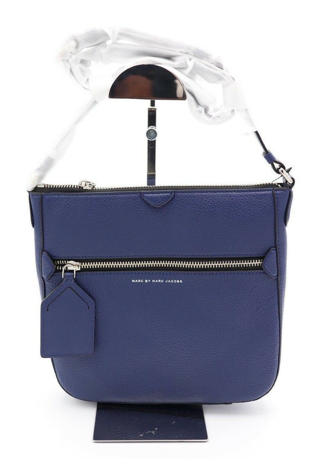 NWT Marc by Marc Jacobs Blue Leather Globetrotter Kit Calley Crossbody Bag $298
