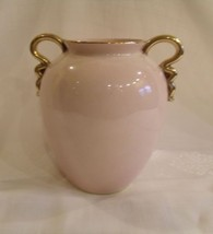 Carlton Ware Vase Pink Gold Handles~Made in England~ Signed Numbered~Car... - $44.54