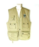 Polar Graphics Alaska Fishing Vest Full Zip Men Women Size L Tan Khaki P... - $49.49