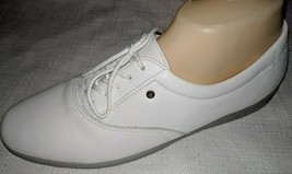 Easy Spirit Women Tennis Shoe Sz 10 Anti-Gravity Lace Up White Leather - $39.47 CAD