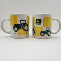 John Deere Mugs (2) Licensed Product By Gibson Collectible Mugs - $13.96