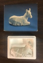 Avon Nativity Collectibles The Donkey Porcelain Figurine 1984 In Box - $15.99