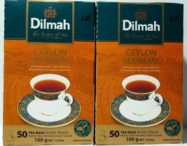 Dilmah Supreme Pure Ceylon Premium Tea 50 sachets of Tea 100 G (3,53... - $9.71