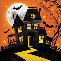Haunted Hill 16 Ct Luncheon Lunch Napkins Halloween House - £3.34 GBP