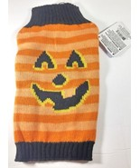 Halloween Dog Sweater Pumpkin Stripes Extra Small or Large New XS L - $8.99