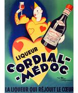 "16x20"" CANVAS Decor.Room design art print.Cordial Medoc.French Clown.6094 - $49.50"