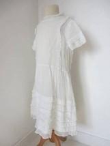 vintage girls white organdy cotton dress 20's drop waist bridesmaid conf... - $74.56