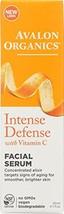 Avalon Organics Intense Defense with Vitamin C, Facial Serum 1 oz - $20.97