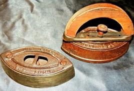 2 Mrs. Potts Sad Irons AA20-7367JJ Antique - $59.95