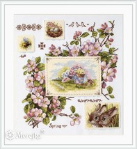 Cross Stitch Hand Embroidery Kit Beautiful Flowers - $49.07