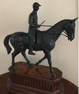Jockey with Racing Horse Bronze Sculpture - $989.95