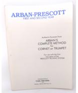 Arban-Prescott Cornet / Trumpet Method Book - 1st & 2nd Year - $15.50