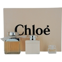 Chloe (New) 2.5 Oz EDP Spray + Body Lotion 3.4 Oz + Mini .17 Oz 3 Pcs Gift Set image 2