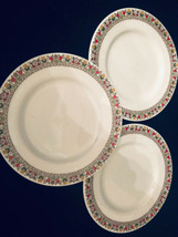 "Royal Doulton Fireglow China TC 1080 3 Bread Butter Plates 6-1/2"" Tulip ... - £14.97 GBP"