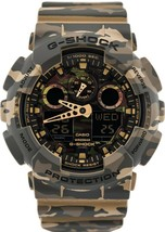 New Casio G-shock GA-100CM-5A Analog Digital Camouflage Resin Band Watch - $140.21