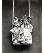 Swinging - Cats - Kittens - 1914 - Animal Photo Magnet - $11.99