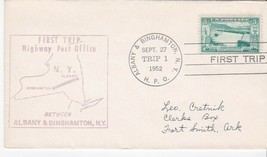 FIRST TRIP H.P.O. ALBANY & BINGHAMTON NY SEPT 27 1952 TRIP 1 - $1.78