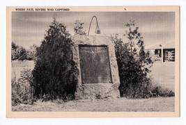 1930-45 Where Paul Revere Was Captured Lexington MA Massachusetts Linen Postcard - $9.36
