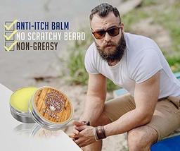 Beard Balm Cedar & Pine Scent w/Argan & Jojoba Oils - Styles, Strengthens & Soft image 2