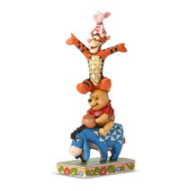 """8"""" Built by Friendship """" Eeyore, Pooh, Tigger & Piglet Stacked Jim Shore Designs image 3"""