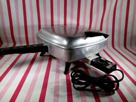 Mid Century 1950's Mirro-Matic Aluminum Adjustable Temps Electric Frying... - $28.00