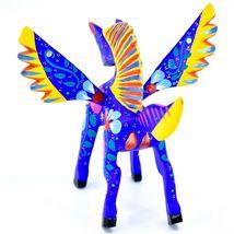 Handmade Alebrijes Oaxacan Wood Carving Painted Folk Art Pegasus Horse Figurine image 3