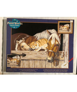 Paint Works STABLE PALS by Number Kit 91186 Horse Cat Dimensions 16x20. ... - $28.84
