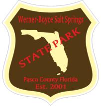 Werner-Boyce Salt Springs Florida State Park Sticker R6807 - $1.45+