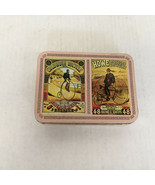 Vintage bicycle themed playing cards in pink metal container  Columbia H... - $19.75