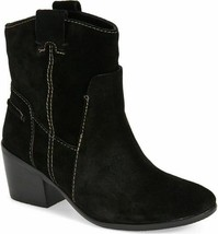 Vince Camuto Maves Pull On Black Suede Western Ankle Boots Bootie 6.5 M NEW - £38.15 GBP