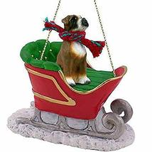 Conversation Concepts Uncropped Boxer Dog Sleigh Dog Holiday Ornament - $28.49