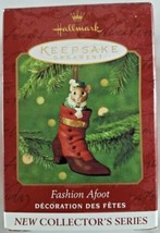 Hallmark Keepsake 2000 Fashion Afoot 1st in Series Mouse Button Shoe Orn... - $9.46