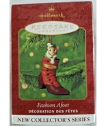 Hallmark Keepsake 2000 Fashion Afoot 1st in Series Mouse Button Shoe Orn... - $9.46