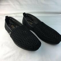BOBS Sparkles Shoes Skechers Women's Canvas  Flats Memory Foam Black  7.5 - $37.02