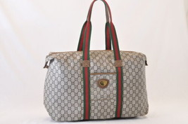 GUCCI GG Plus Canvas Sherry Line Boston Bag Brown Auth 7817 - $360.00