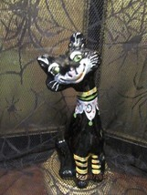 "FENTON ART GLASS 2011 HALLOWEEN BLACK HP ALLEY CAT ""CHESTER"" FIGURINE - $175.00"