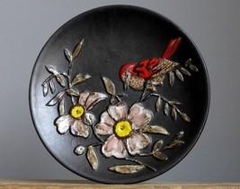 Vintage 60-70's RUSCHA Keramik Floral Wall Plate German Pottery Fat Lava... - $19.79