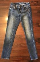 American Eagle Skinny Stretch Jeans dark wash denim cotton Sz 2R 27x29 - $18.50