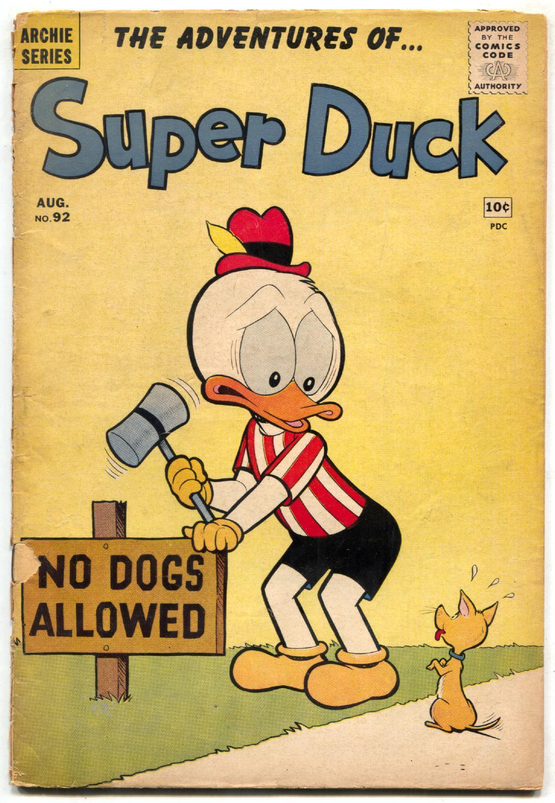 Super Duck #92 1960- Archie comics- Humor G/VG