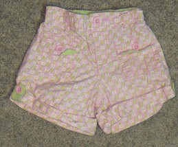Baby Gap Pink Green Floral Flower Shorts Size 3-6 3 6 Months - $9.49