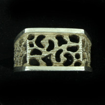 Rare Vintage Sterling MidCentury Organic Abstract Signet Band Ring Size 6.5 - $121.49