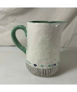 Pitcher Perfect Creamer Hallmark Home Bumpy Surface Ceramic Teal  - $4.94