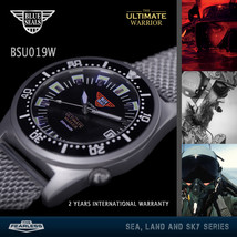 Blue Seals Watch The Ultimate Warrior Automatic 200m Black BSU019W  - $329.00