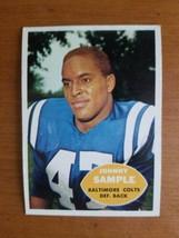 1960 Topps Football Johnny Sample #9  Nice Card! - $4.95