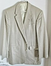 Men's Marcus by Nieman Marcus Windowpane Wool Blend Blazer 42R - $49.50