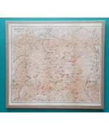 "BELGIUM Brussels Bruxelles Town Plan  - 1905 CITY MAP 10.5 x 12""  (26.5 ... - $23.40"