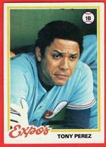 1978 Topps #15 Tony Perez HOF baseball card - $0.01